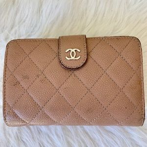 Chanel wallet in mauve